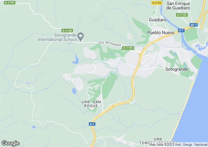 Map for Andalucia, Malaga, Portofino