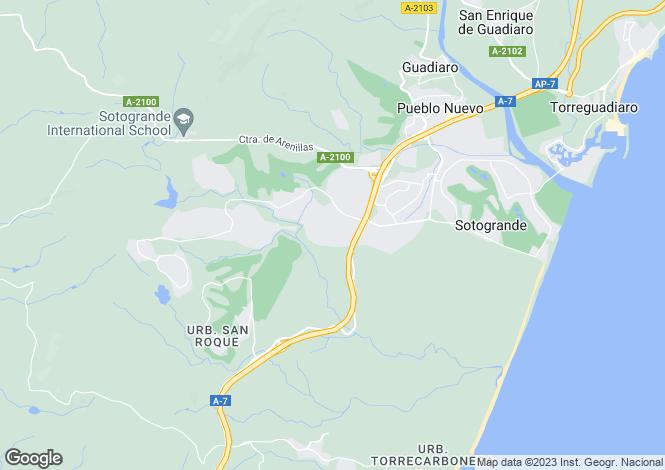 Map for Sotogrande Alto, Sotogrande, Cadiz, Spain