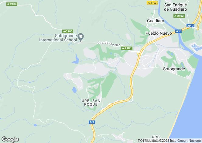 Map for Sotogande Alto, Sotogande, Cadiz