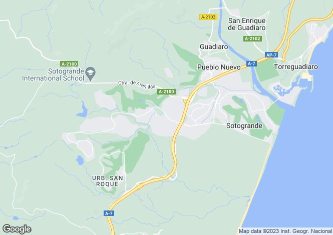 Map for Sotogrande Alto, Sotogrande, Andalucía, Spain