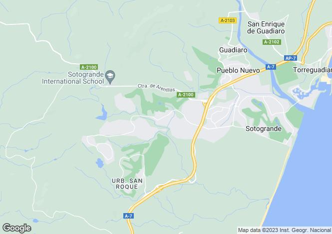 Map for Valgrande, Sotogrande Alto, Sotogrande