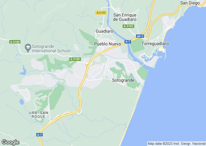 Map for Altos de Valderrama, Sotogrande Alto