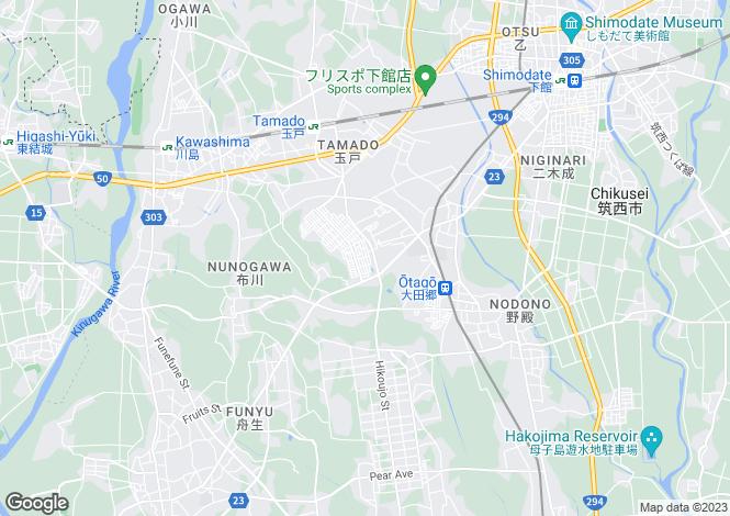 Map for Ibaraki