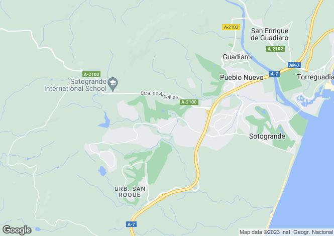 Map for Frontline Real Valderrama, Sotogrande Alto, Andalucia, Spain