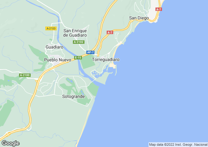 Map for Las Cimas, Sotogrande, Cadiz, Spain