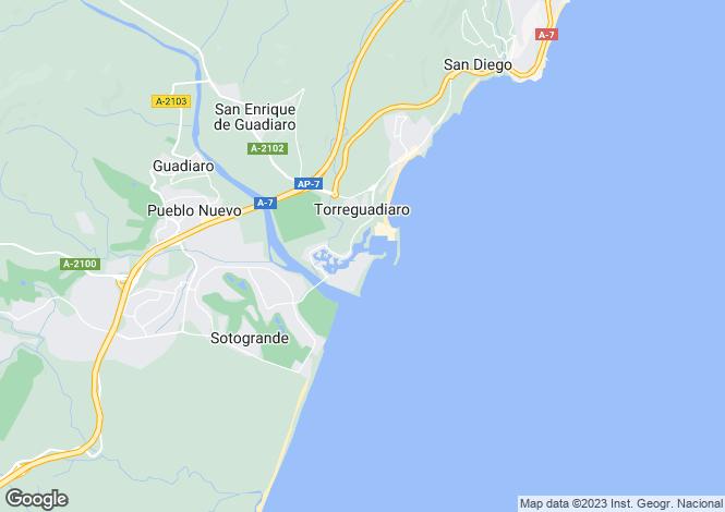 Map for Sotogrande, Cádiz, Andalusia
