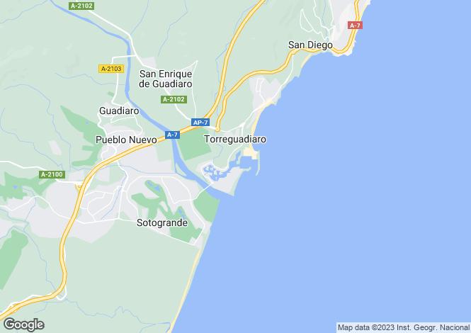 Map for Andalucia, Cádiz, Sotogrande