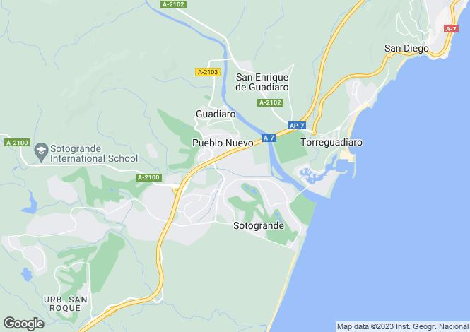 Map for Sotogrande Costa, Sotogrande, Andalucía, Spain