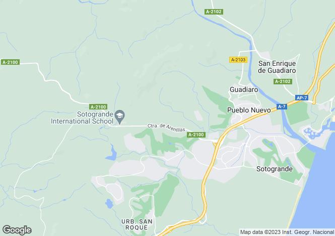 Map for La Reserva, Sotogrande, Andalucía, Spain