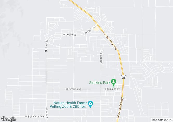 Map for USA - Nevada, Nye County, Pahrump