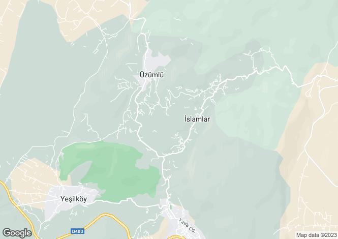 Map for Islamlar, Kas, Antalya