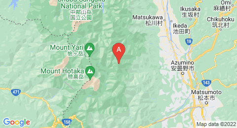 map of Mount Jōnen (Japan)