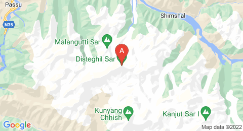 map of Distaghil Sar (Pakistan)