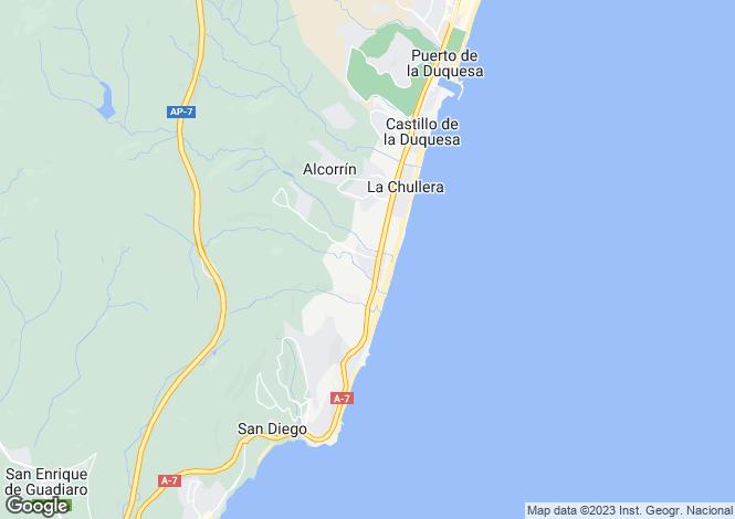 Map for Andalusia, Cádiz, Sotogrande