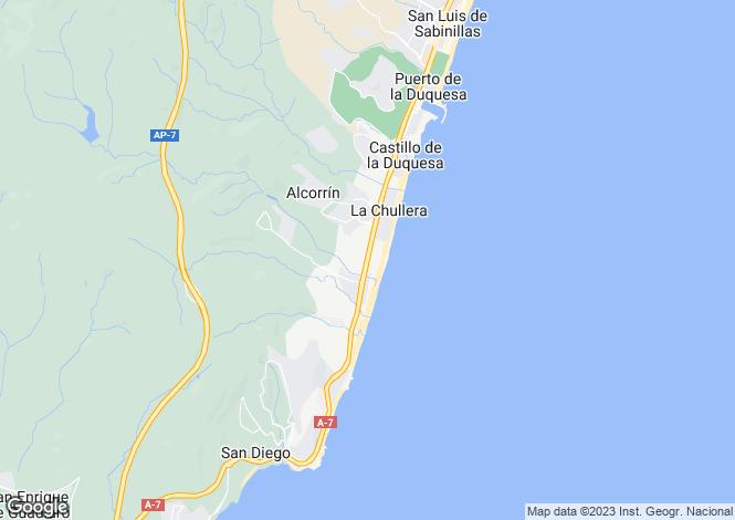 Map for Aldea Golf, Manilva  Beach, Sotogrande