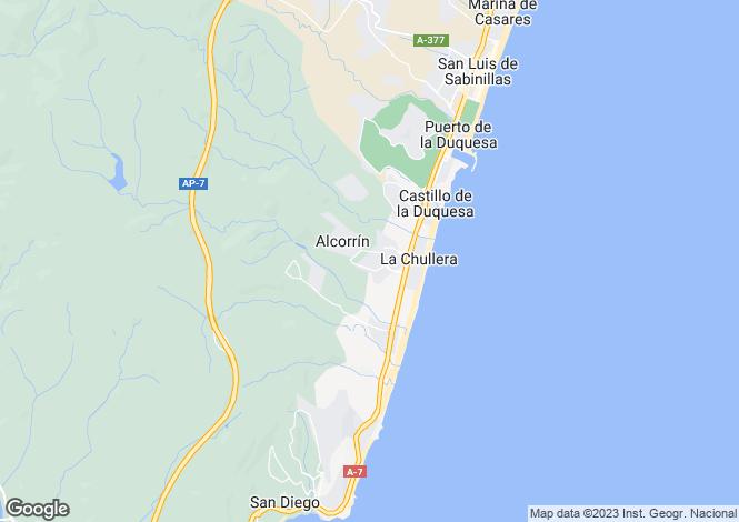 Map for Andalucia, Malaga, La Duquesa