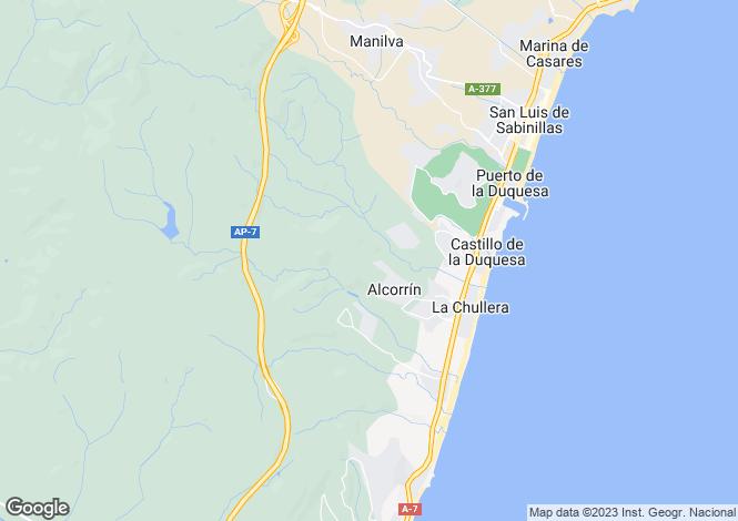 Map for Andalucia, Malaga, Manilva