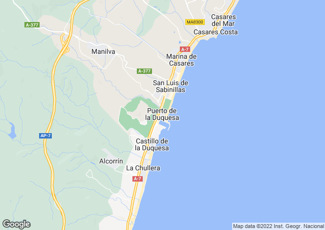 Map for Front Line Golf Detached Villas, La Duquesa, Costa Del Sol