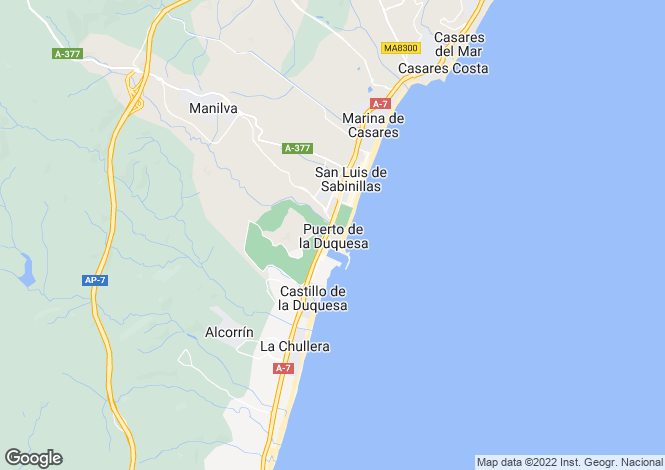 Map for La Duquesa, Costa Del Sol, Spain