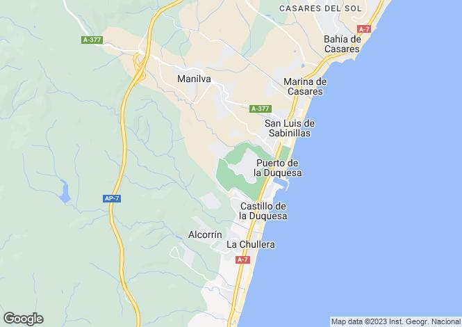 Map for Andalusia, Malaga, Manilva