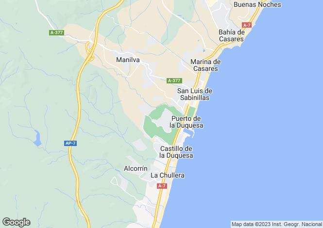 Map for Andalusia, Málaga, La Duquesa