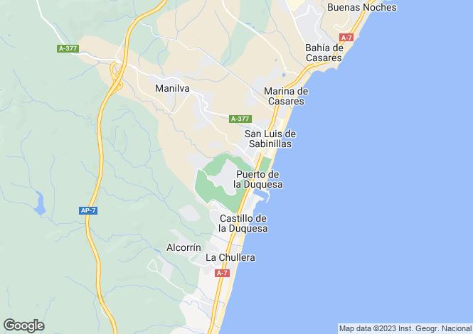 Map for La Duquesa, Manilva, Marbella-Estepona, Spain
