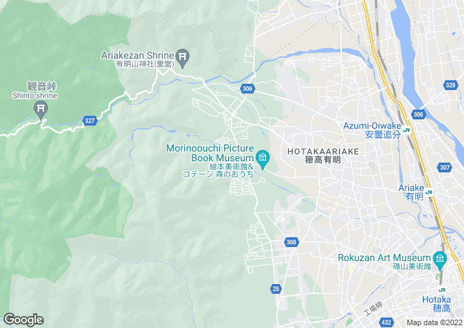 Map for Nagano