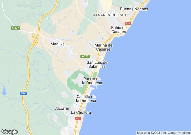 Map for Andalucia, Malaga, Sabinillas