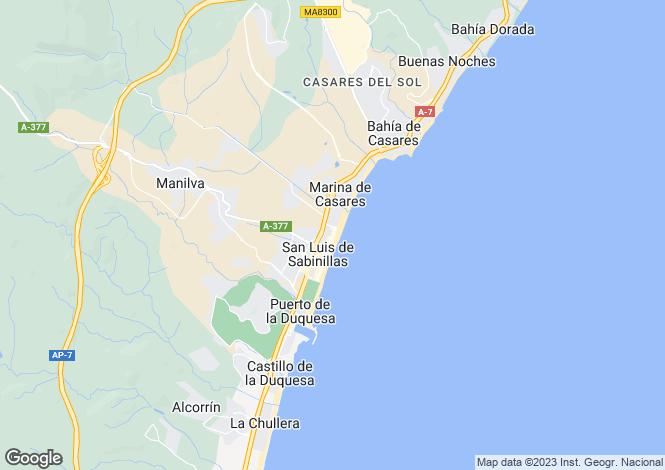 Map for Sabinillas, Málaga, Andalusia