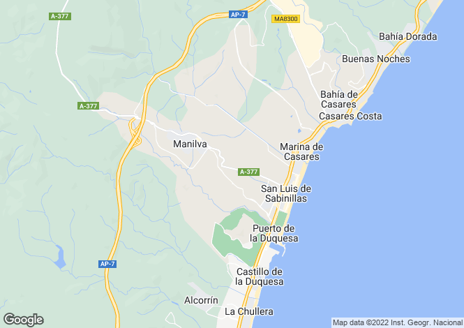 Map for Spain - Andalusia, Malaga, Manilva