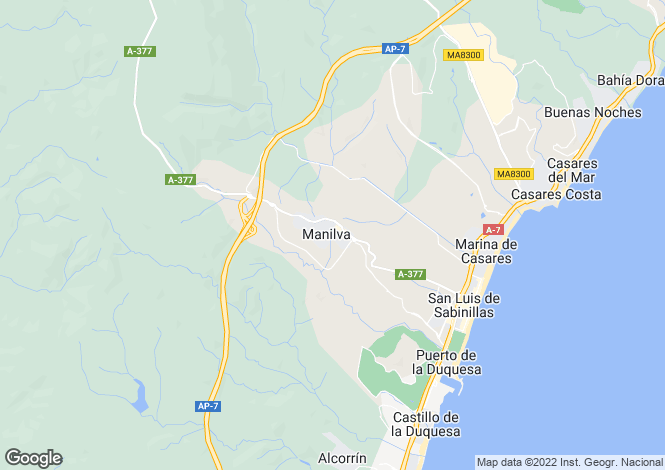Map for Andalusia, Málaga, Manilva
