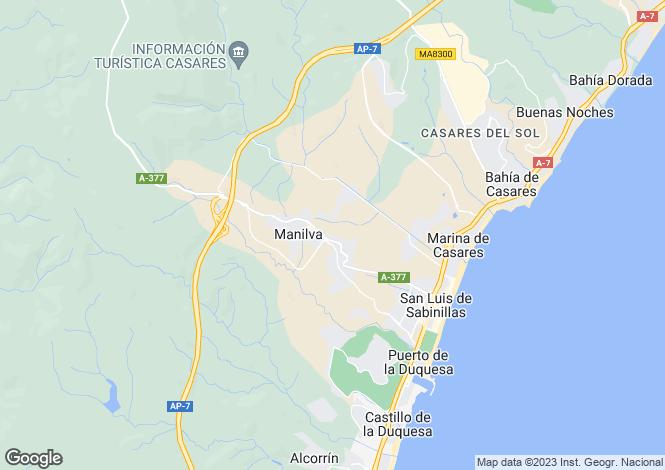 Map for Manilva, Málaga, Andalusia
