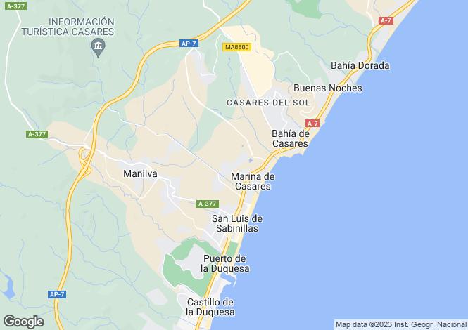 Map for Casares, Málaga, Andalusia