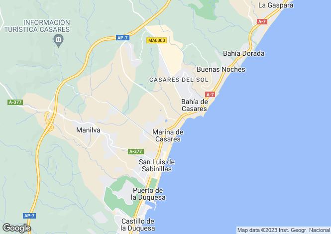 Map for Casares,Málaga