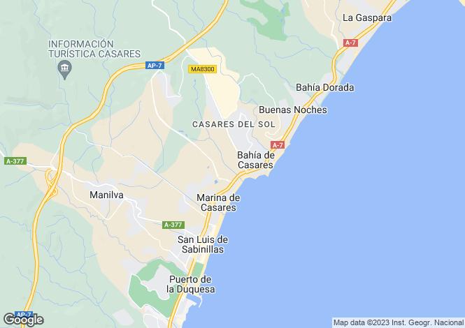 Map for Andalusia, Malaga, Sabinillas
