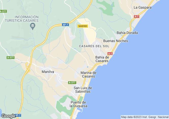 Map for Casares Playa, Casares, Malaga, Spain