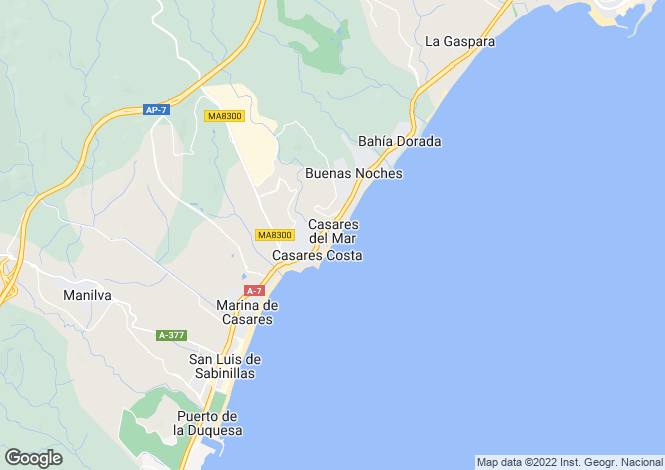 Map for Casares, Marbella-Estepona, Spain