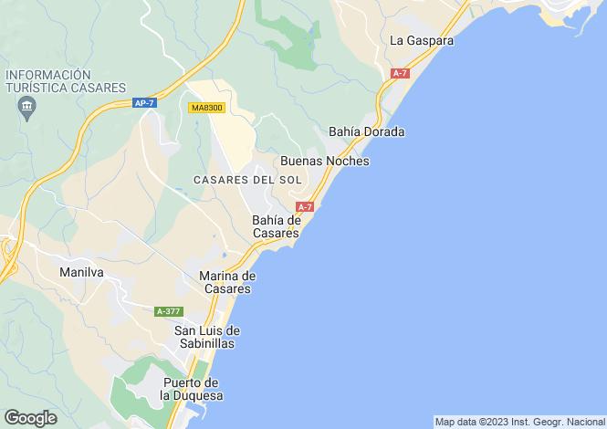 Map for Andalucia, Malaga, Estepona