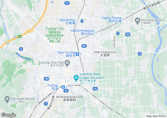 Map for Tochigi