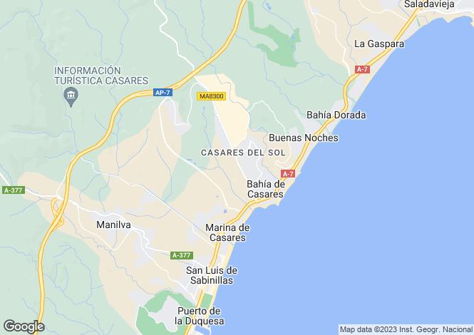 Map for Bahia De Casares, Málaga, Andalusia