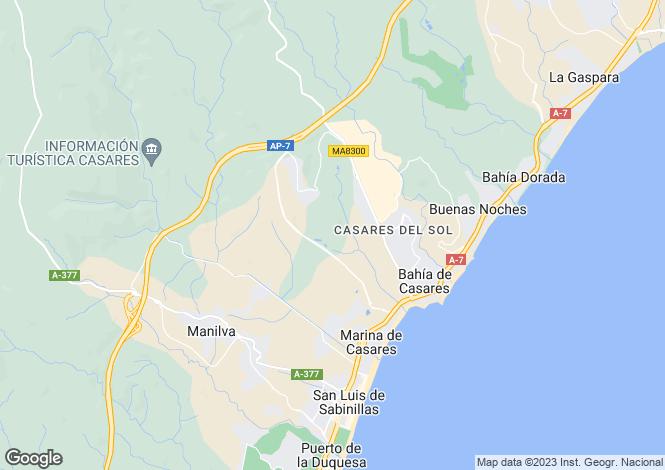 Map for Andalusia, Málaga, Estepona