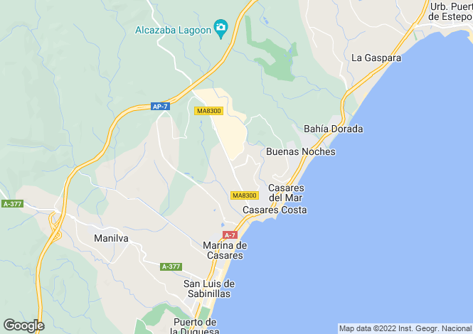Map for Casares Costa, Malaga, Spain