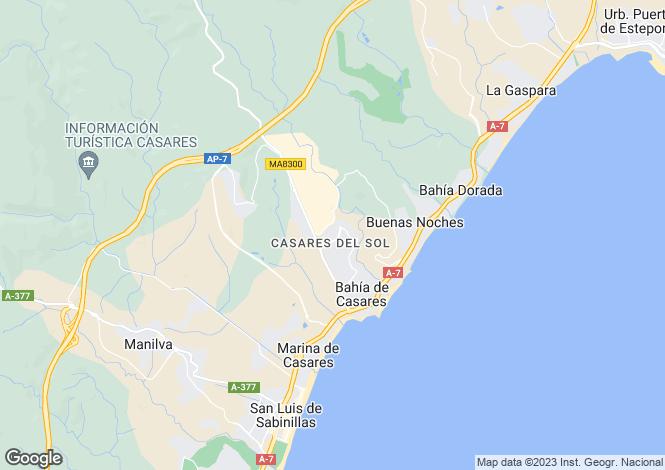 Map for Manilva, Malaga, Spain