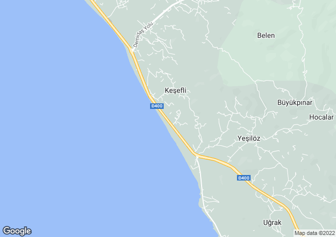 Map for Yesilöz, Alanya, Antalya
