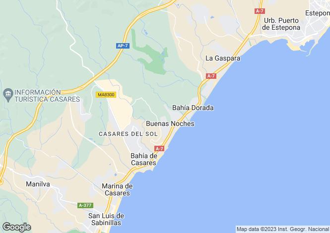 Map for Buenas Noches, Estepona, Malaga, Spain