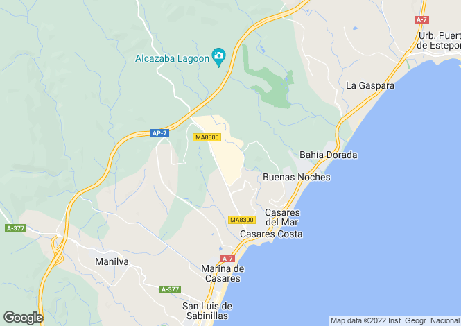 Map for Andalusia, Malaga, Casares