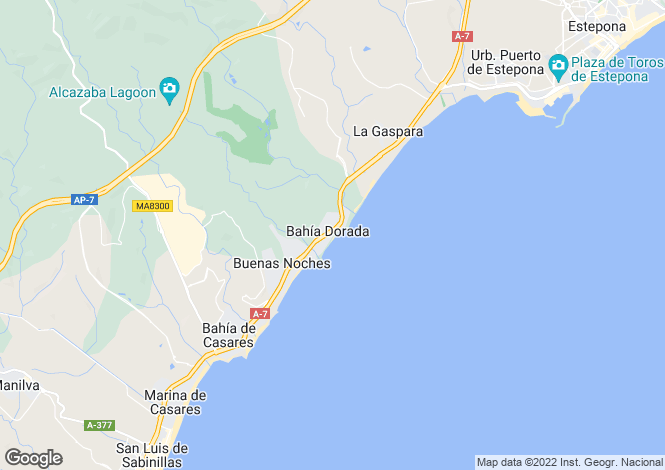 Map for Estepona, Costa Del Sol, Spain