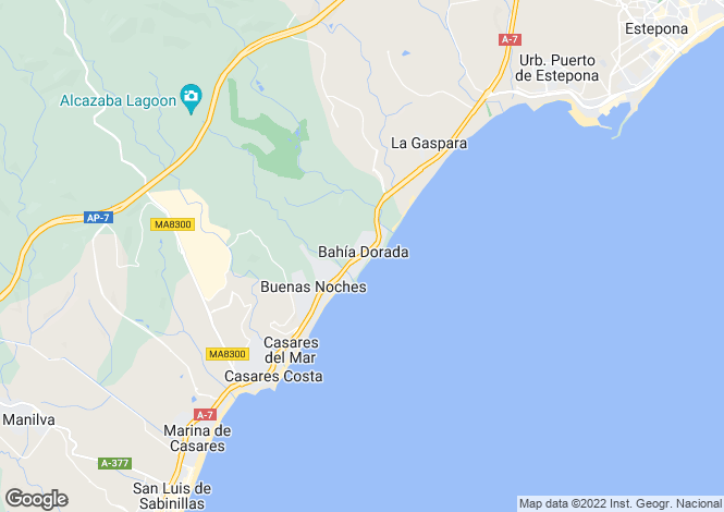 Map for Sinfonia del Mar, Estepona, Malaga, Spain