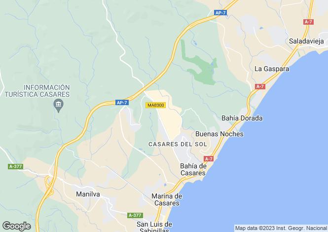 Map for Casares, Malaga, Spain