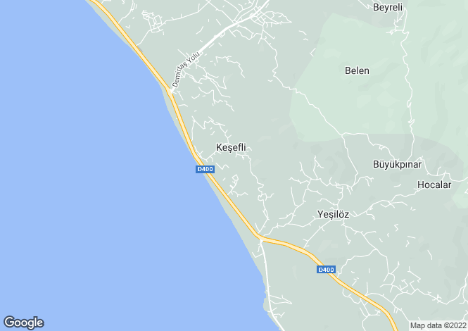 Map for Demirtas, Alanya, Antalya